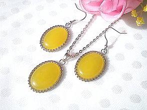 Sady šperkov - Sada - Yellow Ónyx - 10433431_
