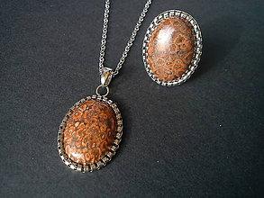 Sady šperkov - Sada - Jaspis Leopard - 10433496_