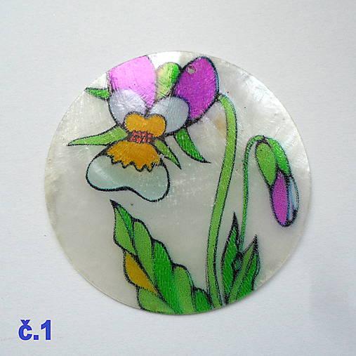 Perleťový prívesok 5cm-1ks (č.1)