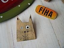 Odznaky/Brošne - Brošňa - mačička - 10432273_