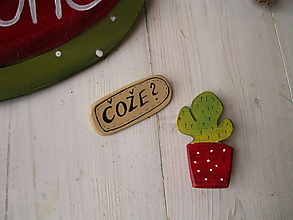 Odznaky/Brošne - Brošňa - kaktus - 10432234_