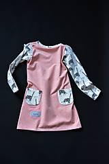 Detské oblečenie - Maia šaty salmon 116 - posledný kus! - 10430906_