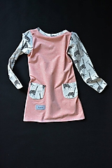 Detské oblečenie - Maia šaty salmon 116 - posledný kus! - 10430910_