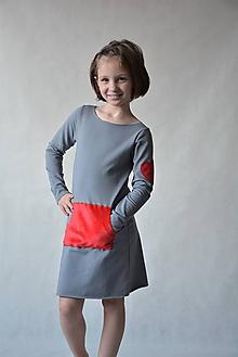 Detské oblečenie - Teplákové šaty Minkey - 10431637_