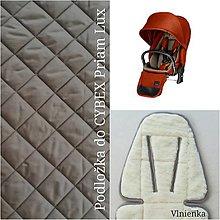 Textil - Podložka do kočíka CYBEX Priam lux a Balios S  100 % merino top super wash do Autumn Gold - 10434538_