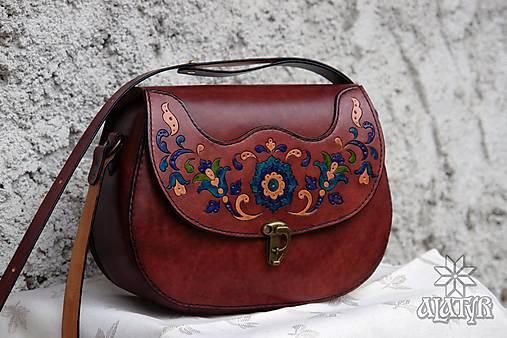 Kožená kabelka Radislava - Kvety