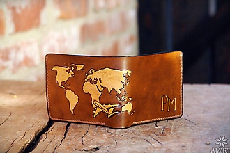 Peňaženky - Kožená peňaženka VI. Cestovateľ - 10432074_