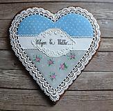 Dekorácie - Medovníkové srdce - 10431063_