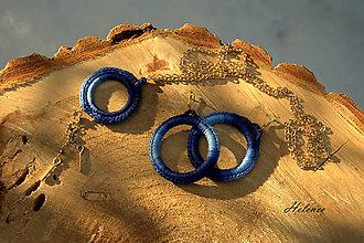 Sady šperkov - Sada Háčko Modrá - 10432519_