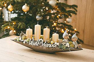 Dekorácie - Vianoce - adventný svietnik - zimná rozprávka - 10432488_