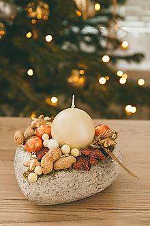 Dekorácie - Vianoce - svietnik - zimná rozprávka - 10432541_