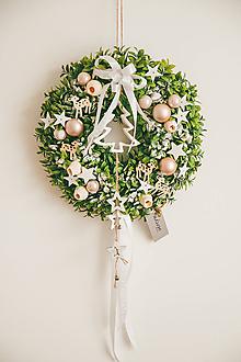Dekorácie - Vianoce - veniec - zimná rozprávka - 10432547_