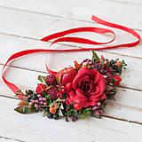 "Náhrdelníky - Kvetinový náhrdelník ""chuť lesného ovocia"" - 10434278_"