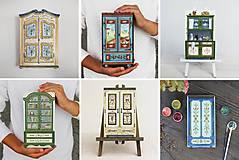 Dekorácie - Miniatúrna starožitná skrinka - Rakúsko, kópia - 10431813_