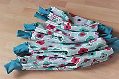 """Detské oblečenie - Softshellky """"flowers"""" !výpredaj! - 10430685_"""