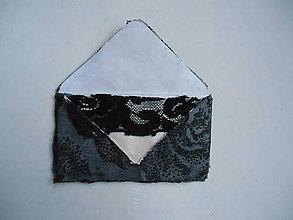 Papiernictvo - obálka ozdobená krajkou - 10433243_