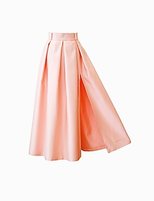 Sukne - Spoločenská sukňa s rozparkom a vreckami - 10433420_
