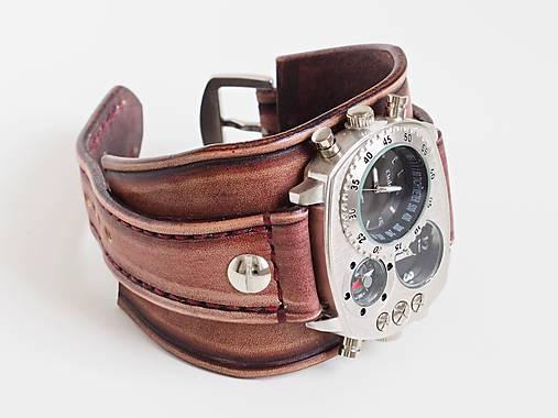 Infantry čierne kožené hodinky III e98cb274200