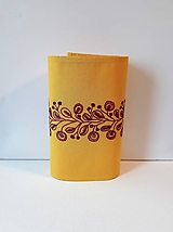 Úžitkový textil - Vyšívaný obrus stredový- žltý, 26 x 133 cm - 10432241_