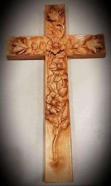 Grafika - Drevorezba Kríž - 10434238_