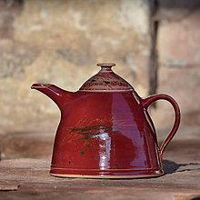 Nádoby - Obří čajová konvice Včelín 3,1l - v kraji vína - 10431176_