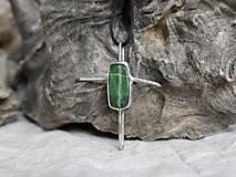 Náhrdelníky - Kríž (serpentín) - 10434145_
