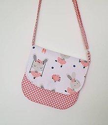 Detské tašky - Detská kabelka zajačiky (Zajkovia + trojuholníčky) - 10433338_