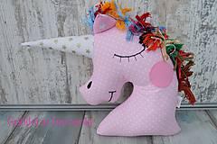 Úžitkový textil - Jednorožec v ružovom - 10434106_