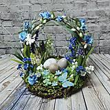 Dekorácie - Vílí aranžmán v modrom / Tajomná Záhrada - 10433068_