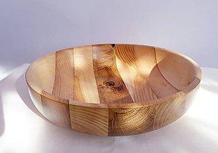 Nádoby - Miska zo 4 druhov dreva - 10433914_