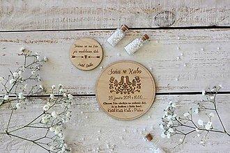 Papiernictvo - Svadobné drevené oznámenie 4 - 10431740_