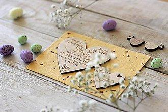 Papiernictvo - Drevené svadobné oznámenie 5 - 10431819_