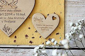 Papiernictvo - Drevené pozvanie k svadobnému stolu 5 - 10431868_