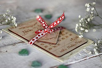 Papiernictvo - Drevené svadobné oznámenie 6 - 10431931_