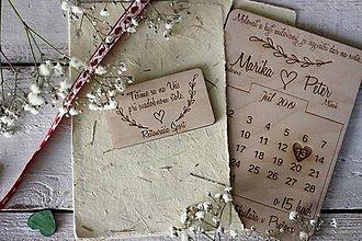 Papiernictvo - Drevené pozvanie k svadobnému stolu 6 - 10432007_