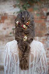 Ozdoby do vlasov - Aranžovaná vlásenka