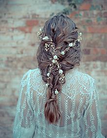 Ozdoby do vlasov - Svadobný pletenec