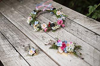 """Ozdoby do vlasov - Romantický svadobný set """"byť šťastná"""" - aj samostatne - 10432085_"""