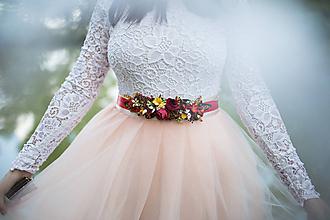 """Opasky - Kvetinový opasok """"slnko v lese"""" - 10432335_"""