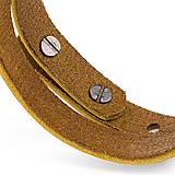 Náramky - Kožený náramok Pugnus Luteus - 10431733_