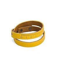 Náramky - Kožený náramok Pugnus Luteus - 10431732_