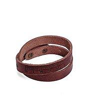 Náramky - Kožený náramok Pugnus Fuscus - 10432717_