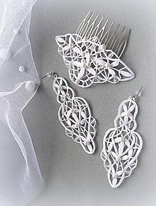 Sady šperkov - Hřeben a náušnice Ruell - 10431392_