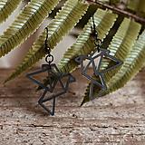 Náušnice - Náušničky - holubice (Čierna) - 10430951_