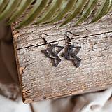 Náušnice - Náušničky - holubice (Čierna) - 10430955_