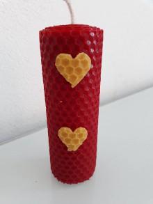 Svietidlá a sviečky - Červená sviečka 12x4 cm - 10430678_