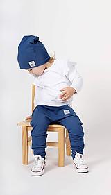 Detské čiapky - Dvojvrstvová čiapka  (Modrá) - 10432580_