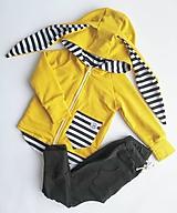 Detské oblečenie - Rastúca zajkomikina pásik  (Žltá) - 10432659_