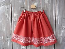 Detské oblečenie - Detská suknička červená - 10431210_