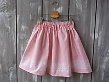 Detské oblečenie - Detská suknička ružová - 10431238_